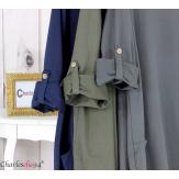 Robe boule sweat poches femme grande taille RANI noire Robe grande taille