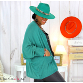 Gilet cardigan femme grande taille maille STATE vert Gilet femme grande taille