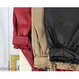 Pantalon simili cuir stretch carotte femme grande taille GABY gris Pantalon femme grande taille