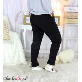 Pantalon femme grandes tailles stretch JANIE noir Pantalon femme grande taille