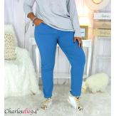 Pantalon femme grandes tailles stretch JANIE bleu pétrole Pantalon femme grande taille