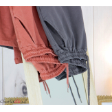 Pantalon femme grande taille sweat stretch PLAY taupe Pantalon femme grande taille