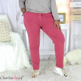Pantalon femme grande taille sweat stretch PLAY bordeaux Pantalon femme grande taille