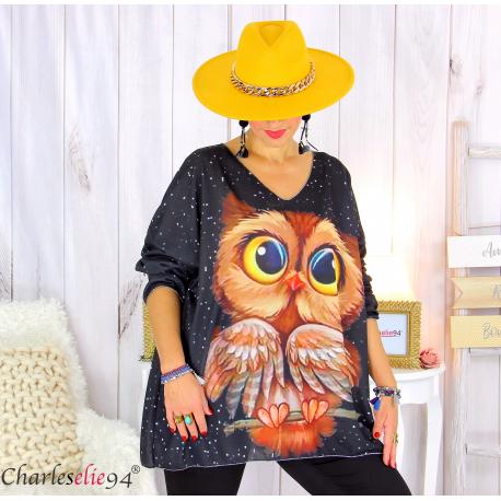Pull tunique maille imprimé femme grandes tailles WILLO M92 Pull tunique femme