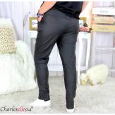 Pantalon simili cuir stretch femme grandes tailles NEMO noir Pantalon femme grande taille
