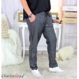 Pantalon simili cuir stretch femme grandes tailles NEMO gris Pantalon femme grande taille
