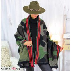 Châle étole laine hiver xxl femme grande taille 2798 Étole femme