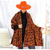 Châle étole laine hiver xxl femme grande taille 2804 Étole femme