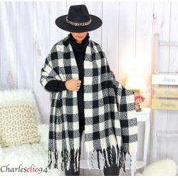 Châle étole laine hiver xxl femme grande taille 2748 Étole femme