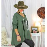 Tunique longue femme grandes tailles DOREMI kaki Tee shirt tunique femme grande taille