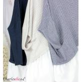 Pull chemise 2 en 1 femme grandes tailles PHENIX bleu marine Pull femme grande taille