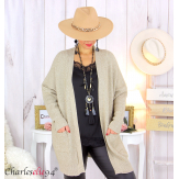 Gilet poches femme grandes tailles MACHA taupe Gilet femme grande taille