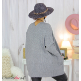 Gilet poches femme grandes tailles MACHA gris Gilet femme grande taille