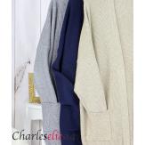 Gilet poches femme grandes tailles MACHA bleu marine Gilet femme grande taille