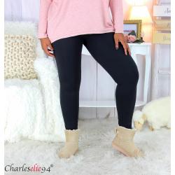 Legging noir stretch femme grandes tailles VLADI Legging grande taille