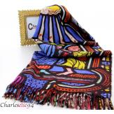 Écharpe étole cachemire laine imprimée 180 x 73 FA3 Écharpe cachemire femme