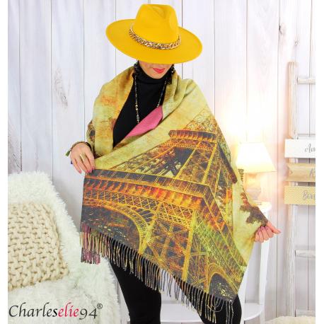 Écharpe étole cachemire laine imprimée 180 x 73 FA6 Écharpe cachemire femme