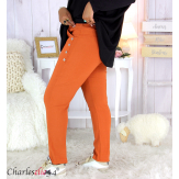 Pantalon jogg femme grandes tailles stretch brique TILIO Pantalon femme grande taille