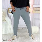 Pantalon jogg femme grandes tailles stretch gris TILIO Pantalon femme grande taille