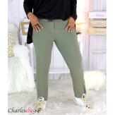 Pantalon jogg femme grandes tailles stretch kaki TILIO Pantalon femme grande taille