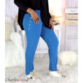 Pantalon jogg femme grandes tailles stretch pétrole TILIO Pantalon femme grande taille
