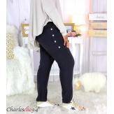 Pantalon jogg femme grandes tailles stretch noir TILIO Pantalon femme grande taille