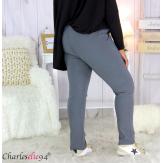 Pantalon femme grandes tailles stretch gris NOAH Pantalon femme grande taille