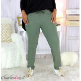Pantalon femme grandes tailles stretch kaki NOAH Pantalon femme grande taille