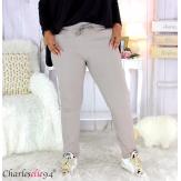 Pantalon femme grandes tailles stretch taupe NOAH Pantalon femme grande taille