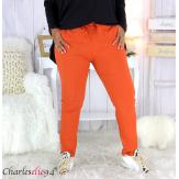 Pantalon femme grandes tailles stretch brique NOAH Pantalon femme grande taille