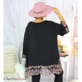 Tunique longue femme grande taille noire VALENTINE 5 Tunique femme grande taille