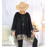 Tunique longue femme grande taille noire VALENTINE 7 Tunique femme grande taille
