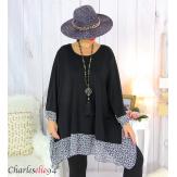 Tunique longue femme grande taille noire VALENTINE 8 Tunique femme grande taille