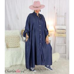 Robe longue jean lyocell bio femme grandes tailles MAYA Robe longue grande taille
