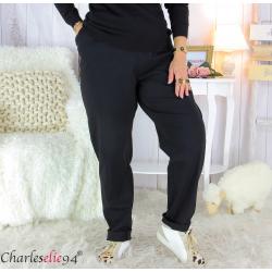 Pantalon femme grandes tailles stretch noir HELSA Pantalon femme grande taille