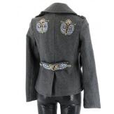 Parka veste laine brodé bijoux - HIBOUX - Femme - CHARLESELIE94