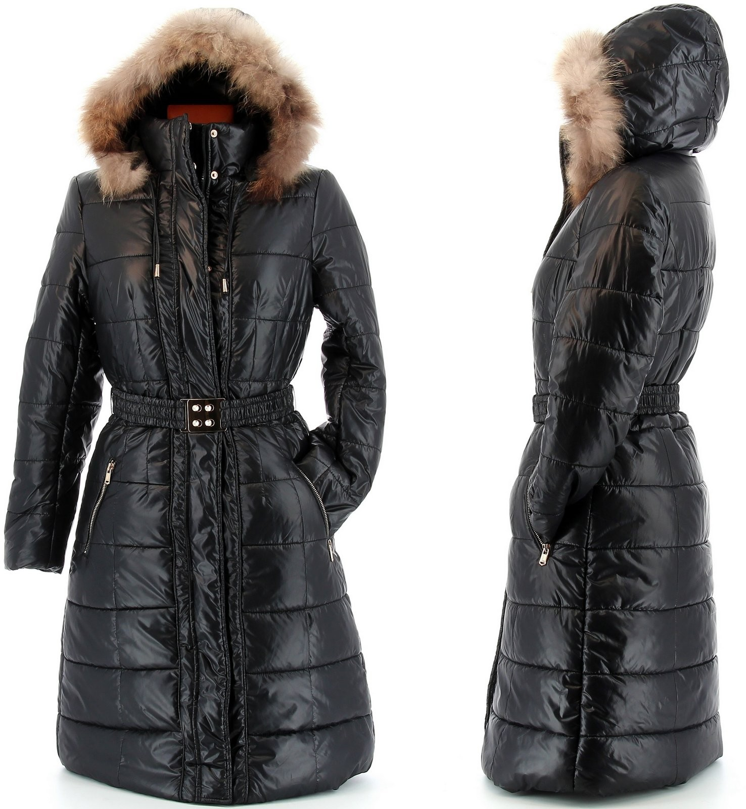 doudoune longue fourrure manteau parka capuche axelle noir. Black Bedroom Furniture Sets. Home Design Ideas