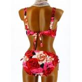 Maillot de Bain Bikini Push Up Sexy 44/52  Rouge - ANNICK -