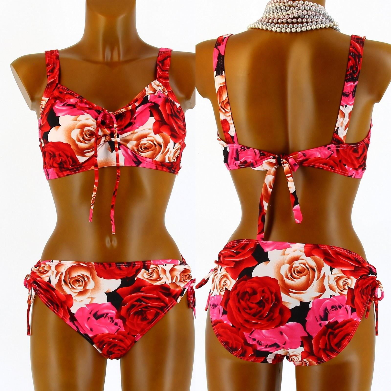 maillot de bain bikini push up grande taille rouge annick. Black Bedroom Furniture Sets. Home Design Ideas